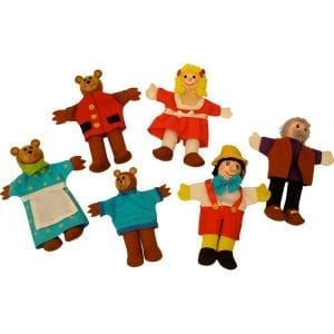 Pacynki - Złotowłosa i trzy niedźwiadki