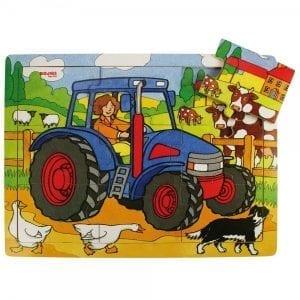 BIGJIGS: puzzle traktor 9 el.