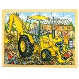 BIGJIGS: puzzle koparka 24 el.