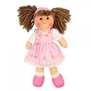 BIGJIGS: Lalka przytulanka Rose 28cm