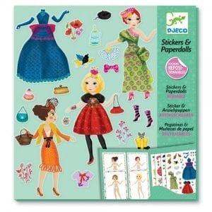 djeco: zestaw z naklejkami moda 6+