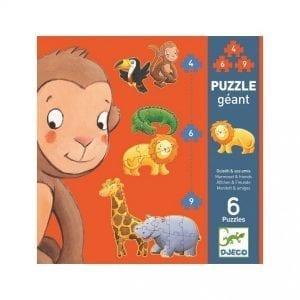 djeco: puzzle marmoset i przyjaciele 2+