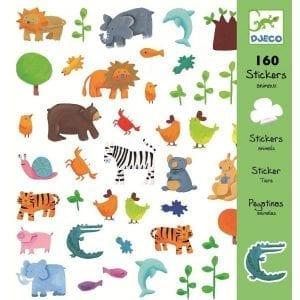 djeco: naklejki zwierzątka 4+