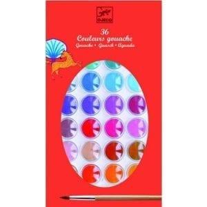 djeco: farby akwarelowe 36 kolorów 4+