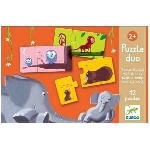 djeco: puzzle duo mama i dziecko 2+