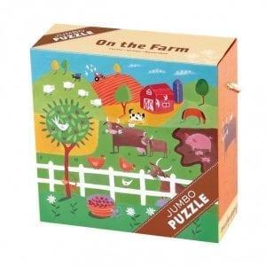 mudpuppy: Puzzle JUMBO farma 25 el. 2+