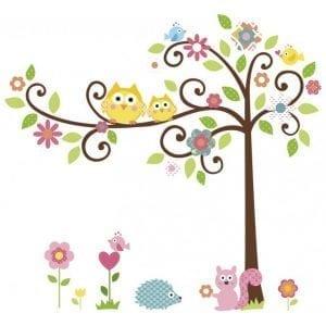 ROOMMATES: Kwitnące drzewo naklejki wielokrotnego użytku