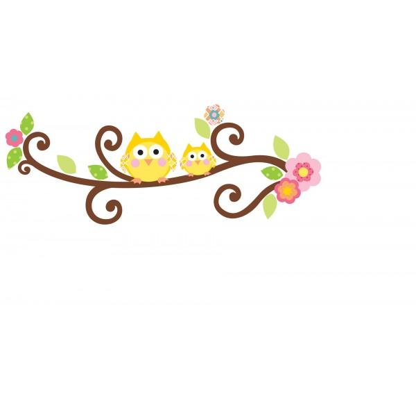 NAKLEJKI Kwitnąca gałązka (litery)