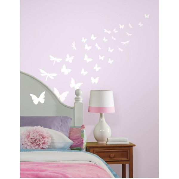 NAKLEJKI Motyle (świecą w ciemności)