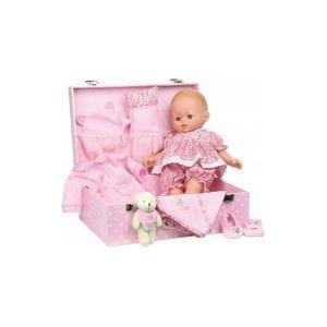 petitcollin: lalka capucine 36cm - z walizką i akcesoriami