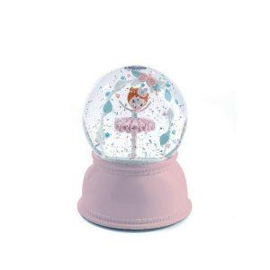 Djeco: lampka kula śnieżna balerina