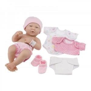 berenguer: La Newborn - Lalka Bobas z ubrankami