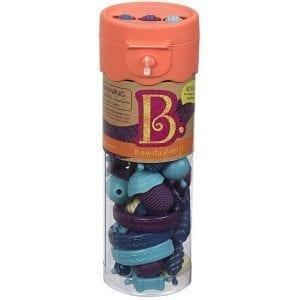 b.toys: B.eauty Pops Jr. Beads - zestaw do tworzenia biżuterii - 50 el. - mango