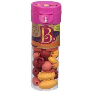 b.toys: B.eauty Pops Jr. Beads - zestaw do tworzenia biżuterii - 50 el. - róż
