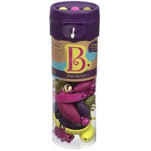 b.toys: B.eauty Pops Jr. Beads - zestaw do tworzenia biżuterii - 50 el. - fiolet