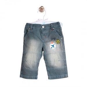 PICCOLO TESORO: szare jeansy, 74cm / 9m