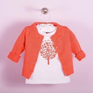 PT: koralowy sweterek, 80cm / 12m