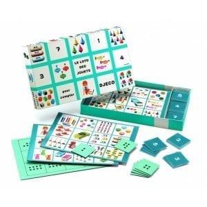 djeco zestaw gier bingo, domino