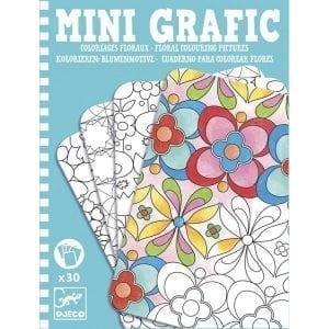 Djeco Mini Grafika - Kolorowanie kwiatów