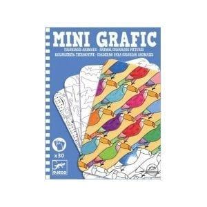 Djeco Mini Grafika - Kolorowanie zwierząt