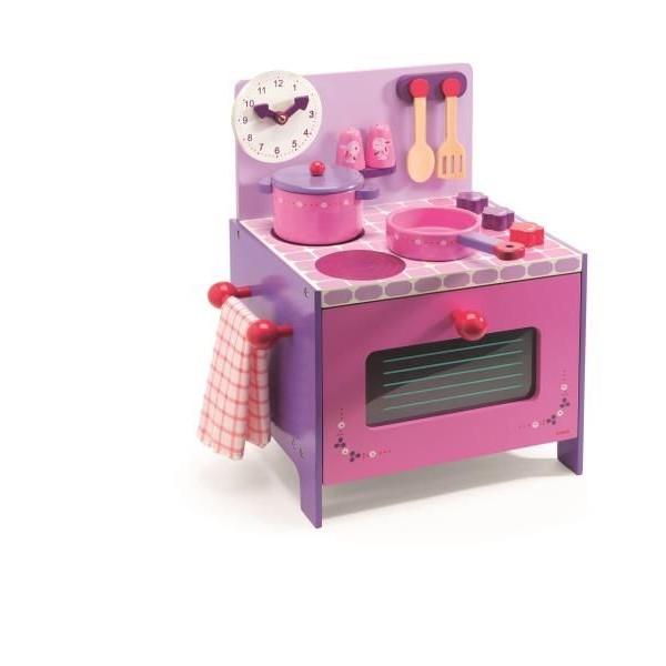 djeco drewniana kuchenka fioletowo – różowa