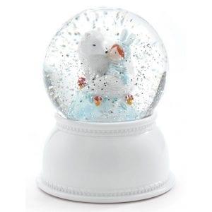 djeco lampka kula śnieżna lila i pupi