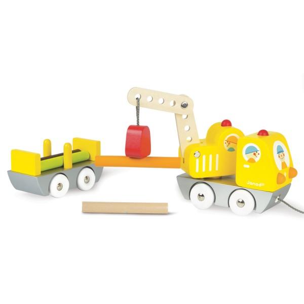 JANOD: pojazd budowlany z dźwigiem