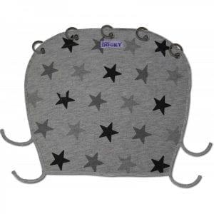 Dooky: Osłonka do wózka i fotelika Grey Stars