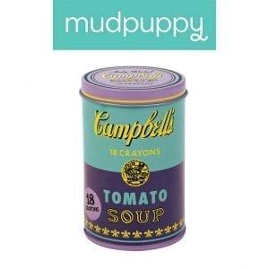 Mudpuppy: Kredki świecowe Andy Warhol 18 szt.