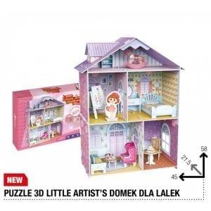 PUZZLE 3D domek ARTYSTKI