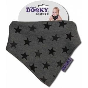 dooky: Chustka - śliniak Grey Stars