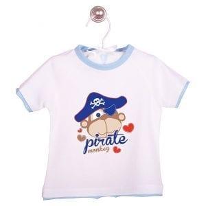 PT: t-shirt pirat, 74cm / 9m