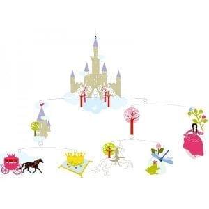 djeco: ruchoma dekoracja zamek księżniczki