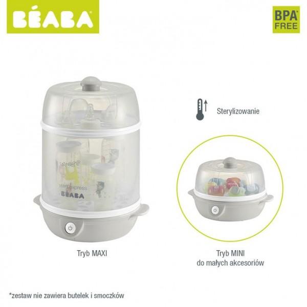 Beaba Sterylizator parowy 2w1 grey