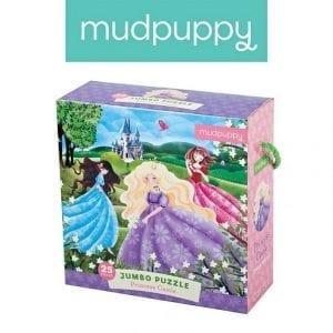 Mudpuppy: Puzzle Jumbo księżniczki 25 el. 2+