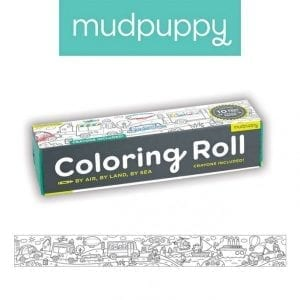 Mudpuppy: Kolorowanka Środki transportu rolka 3m + kredki