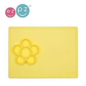EZPZ mata do zabawy z pojemniczkami 2w1 Flower Play Mat żółta