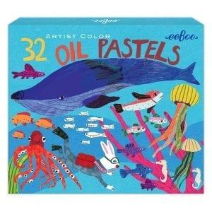 eeboo kredki pastele in the sea 32 kolory