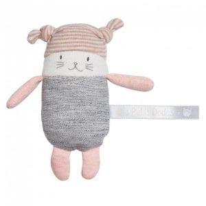 moulin roty: kotek grzechotka 11 cm