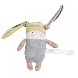 moulin roty: królik grzechotka 11 cm