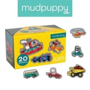 Mudpuppy: magnesy pojazdy 20 el.