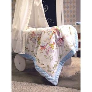 Blanket Story: Koc Alicja w Krainie Czarów 95x115 cm błękit