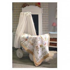 Blanket Story: Koc Alicja w Krainie Czarów 95x115 cm beż