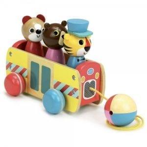 VILAC: Autobus drewniany do ciągnięcia Ingela P. Arrhenius