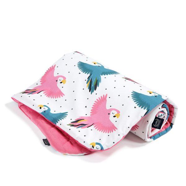 kocyk_średniaka_la_millou_velvet_florida_pink_candy_parrot_(2)