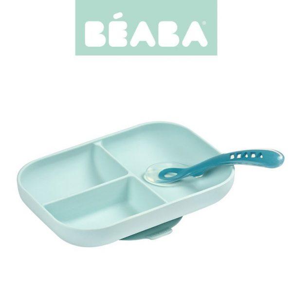 pol_pl_Beaba-Komplet-naczyn-z-silikonu-trojdzielny-talerz-z-przyssawka-lyzeczka-Blue-5774_1