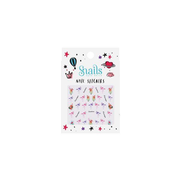 naklejki-na-paznokcie-dla-dzieci-snails-flamingos
